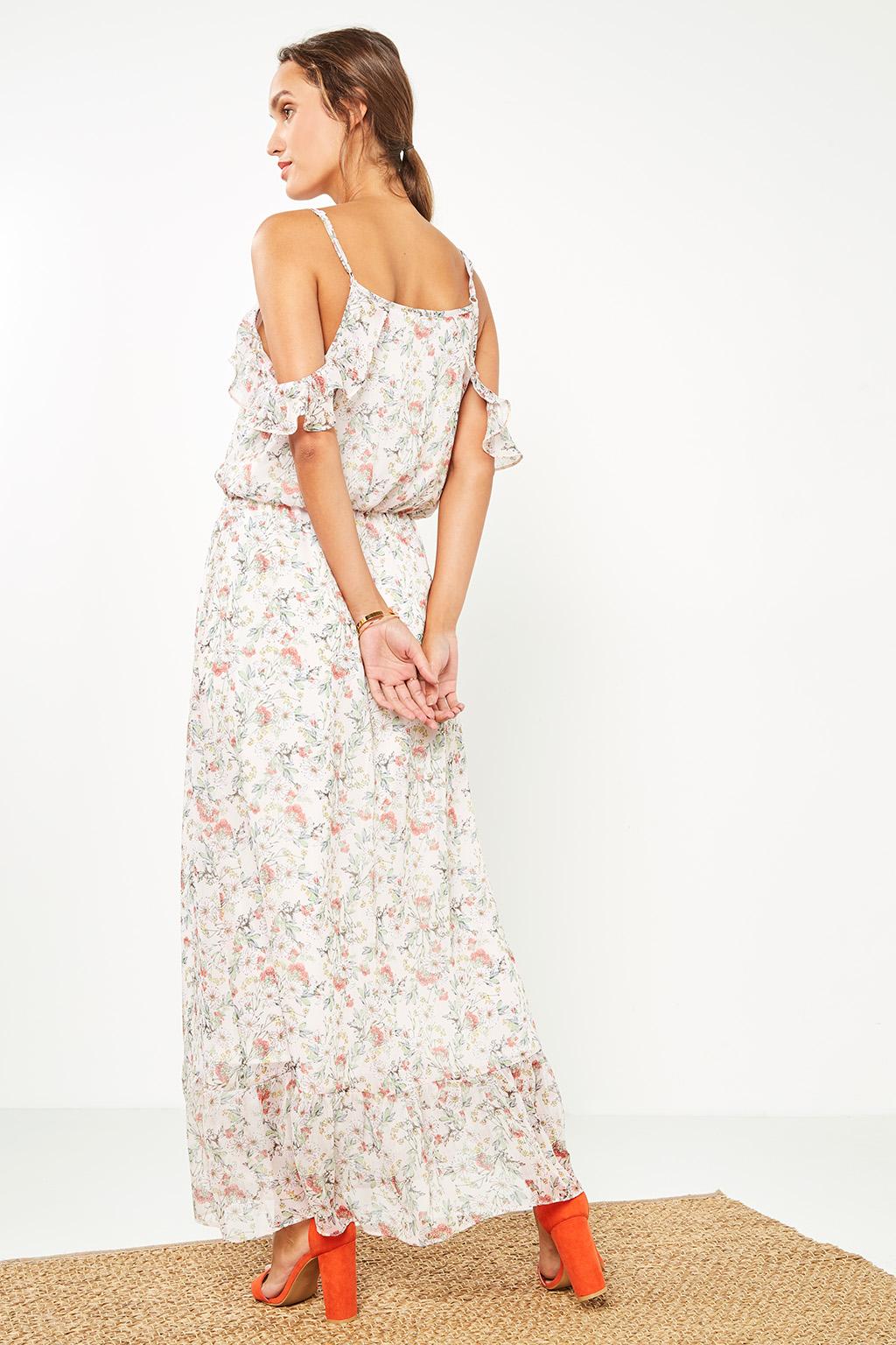 Robe longue à fleurs #collectionIRL sur Showroomprivé