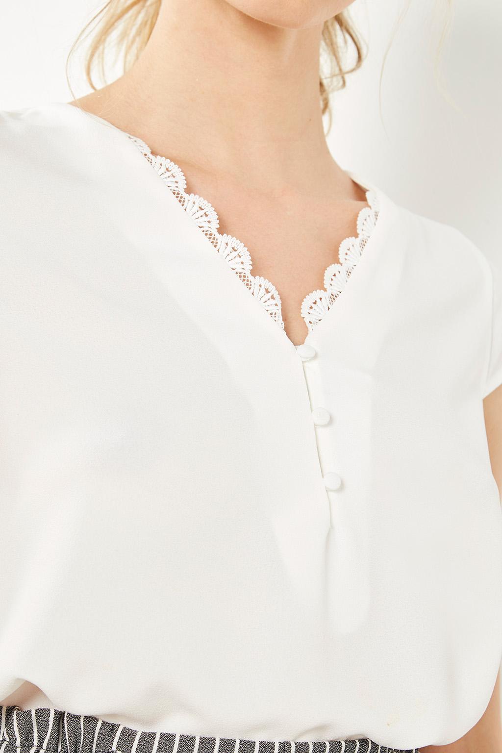 Blouse blanche #collectionIRL sur Showroomprivé.