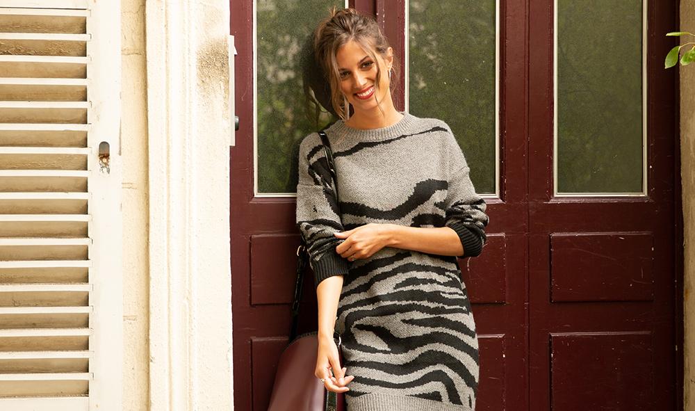 Comment porter la robe pull en hiver