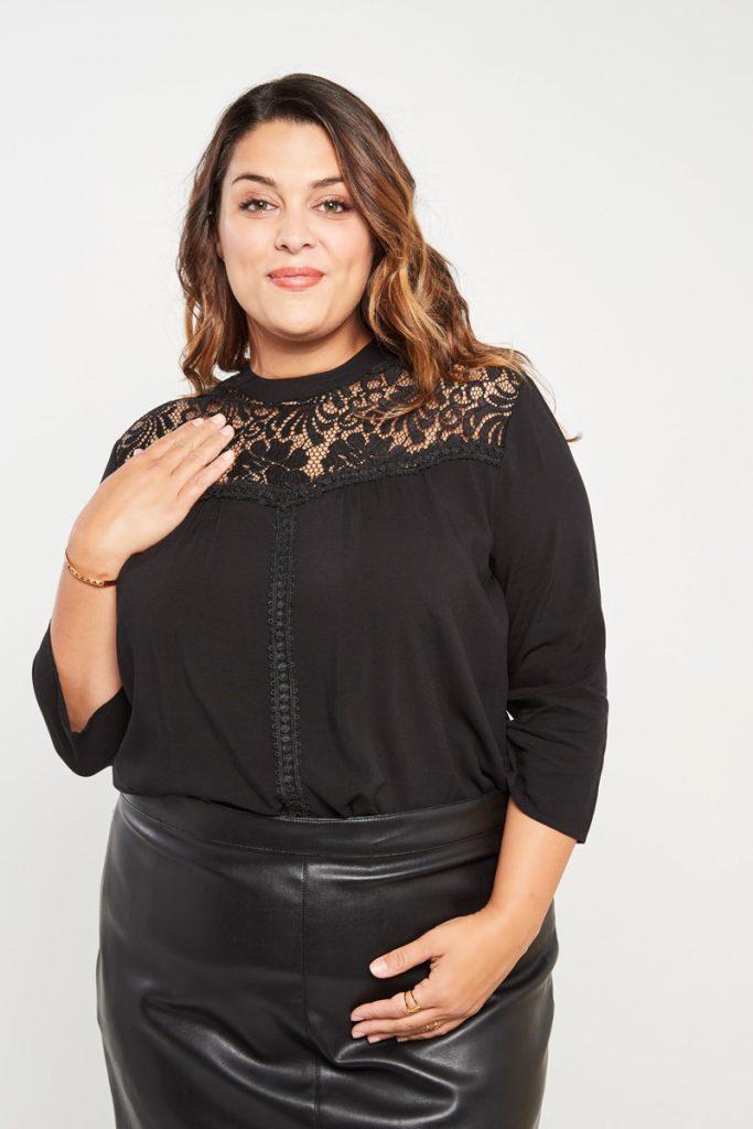 curveIRL blouse dentelle