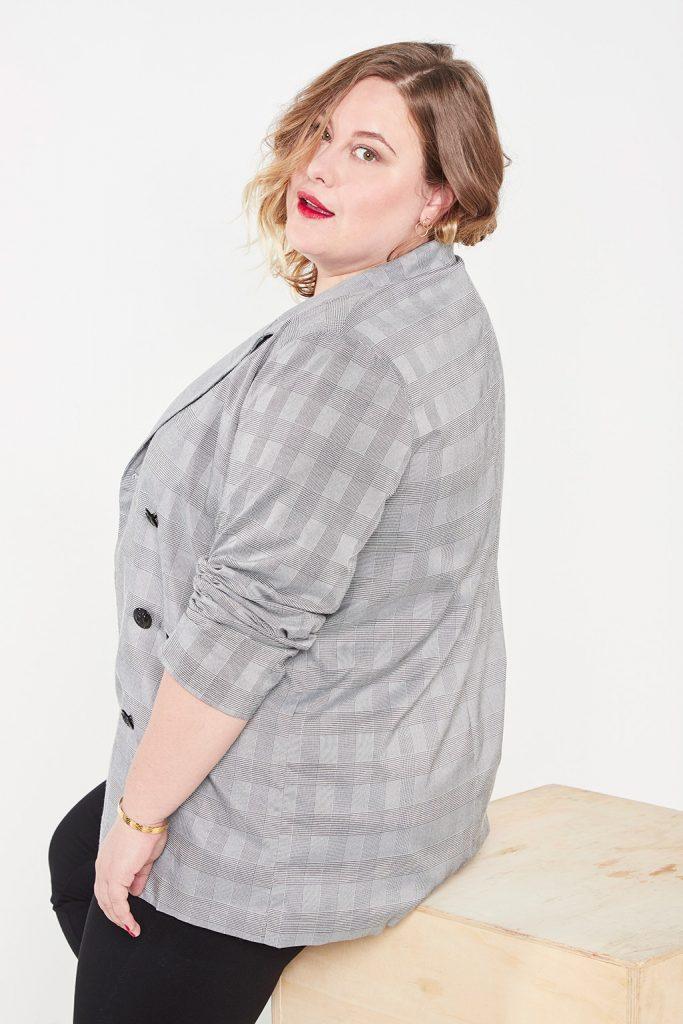 collection curveIRL veste tailleur carreaux