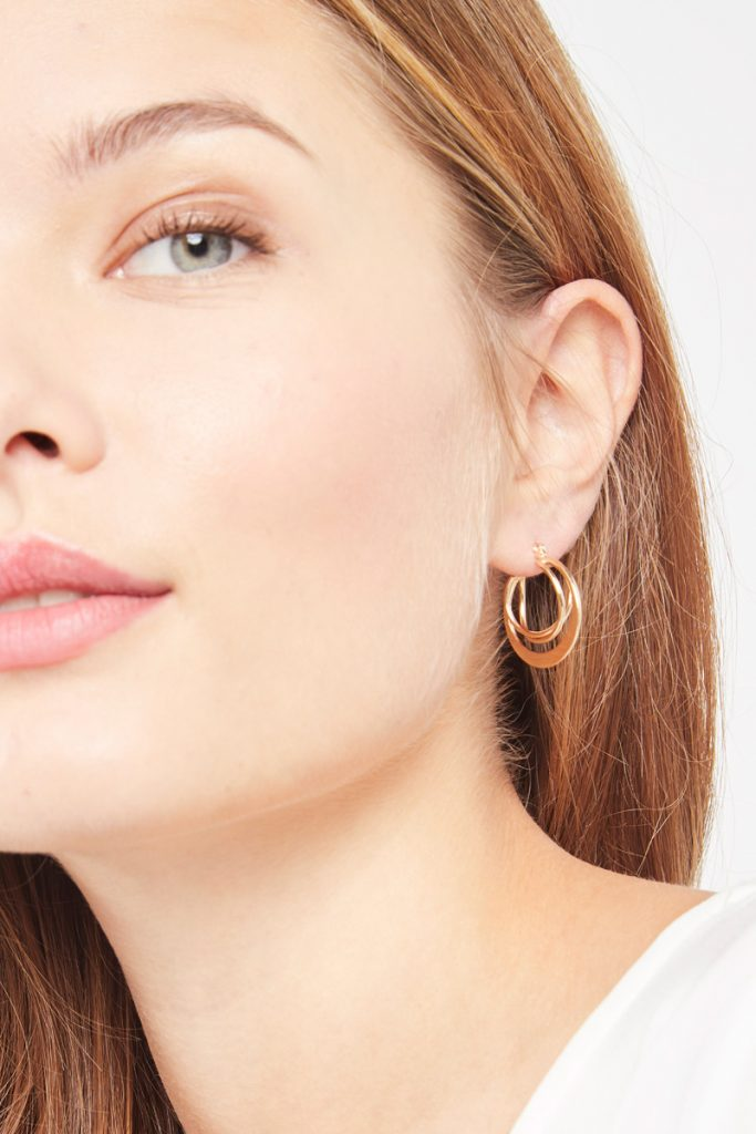 collectionIRL boucles d'oreilles plaqué or jaune