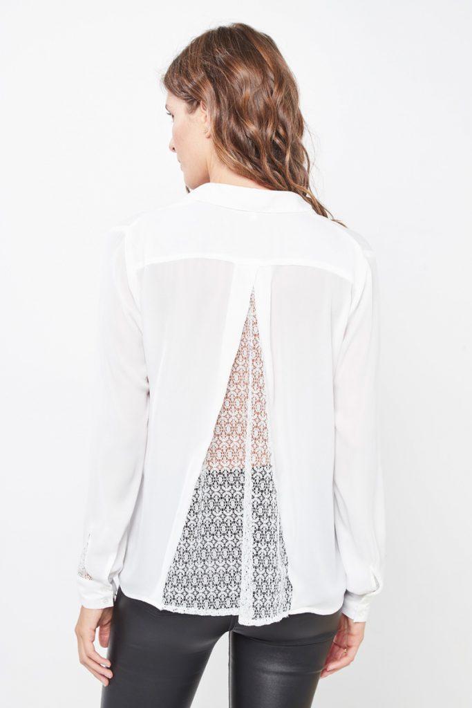 collectionIRL chemise détails dentelle dos