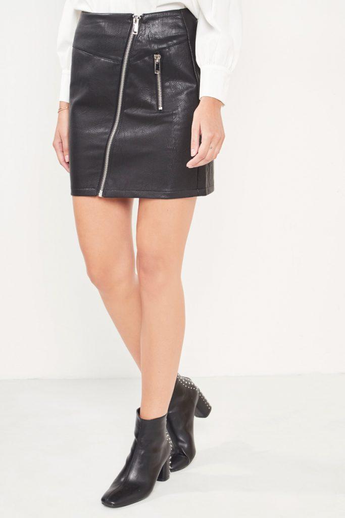 collectionIRL jupe zippée effet cuir