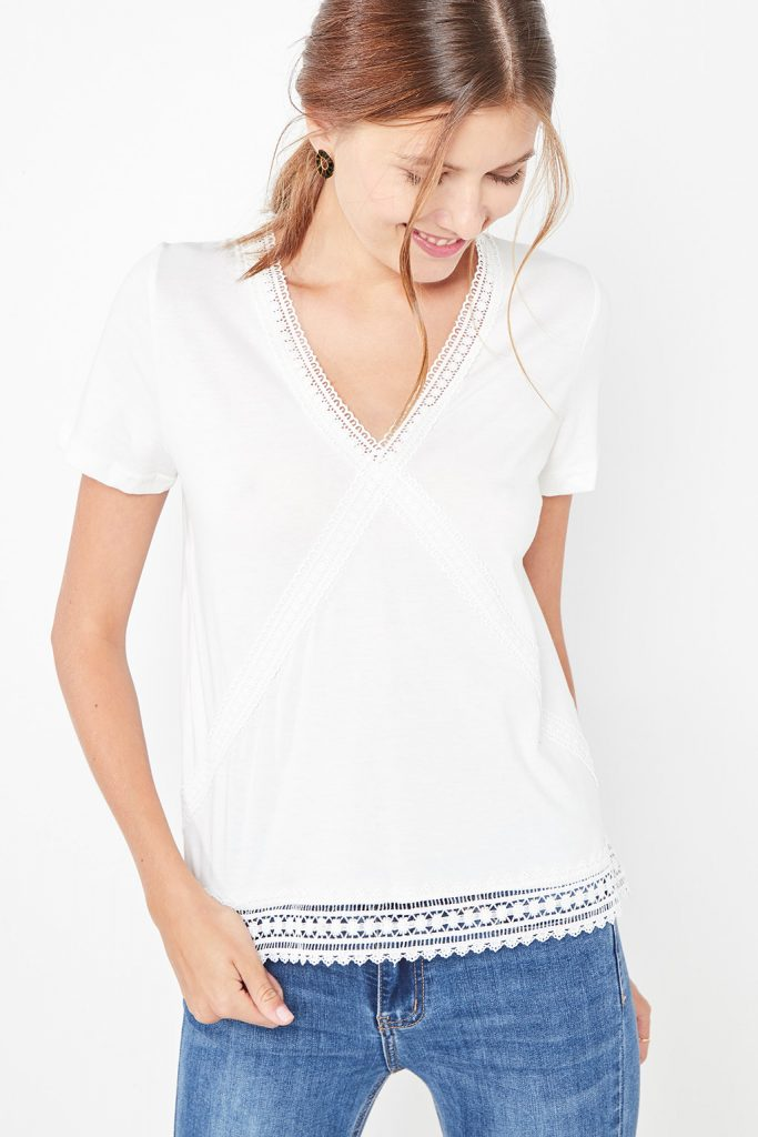 collectionIRL t-shirt dentelle
