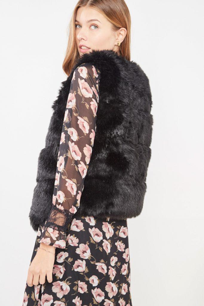 collectionIRL veste sans manche fourrure synthétique