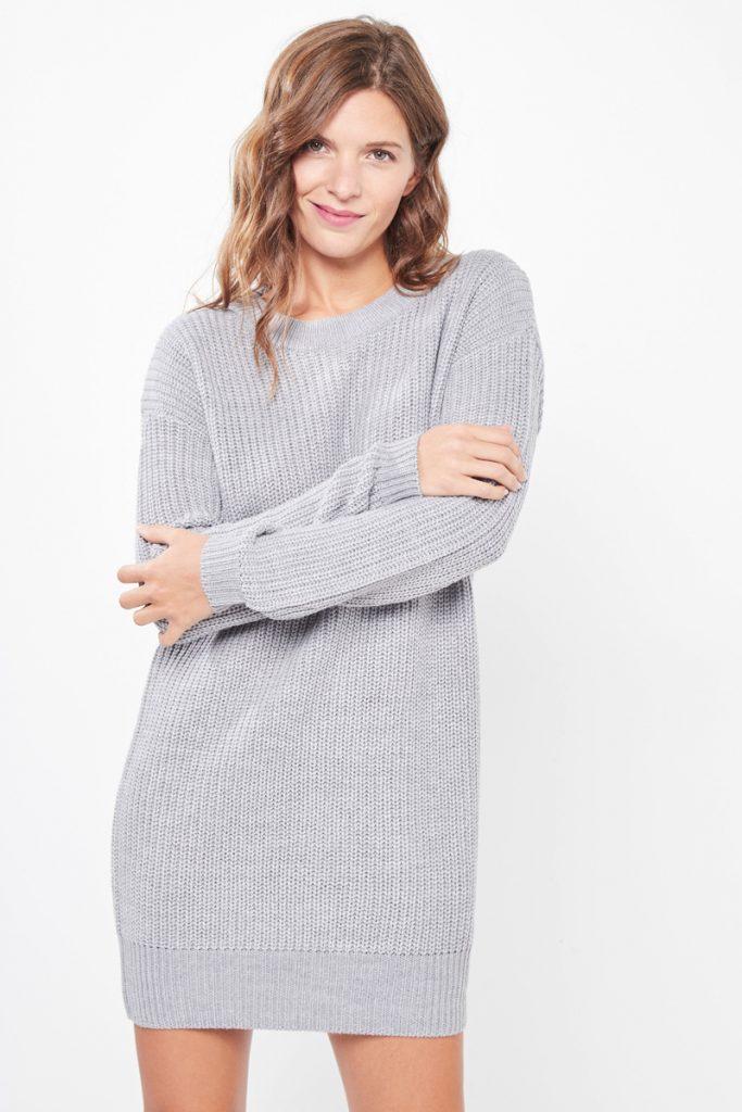 collectionIRL robe pull laçage gris