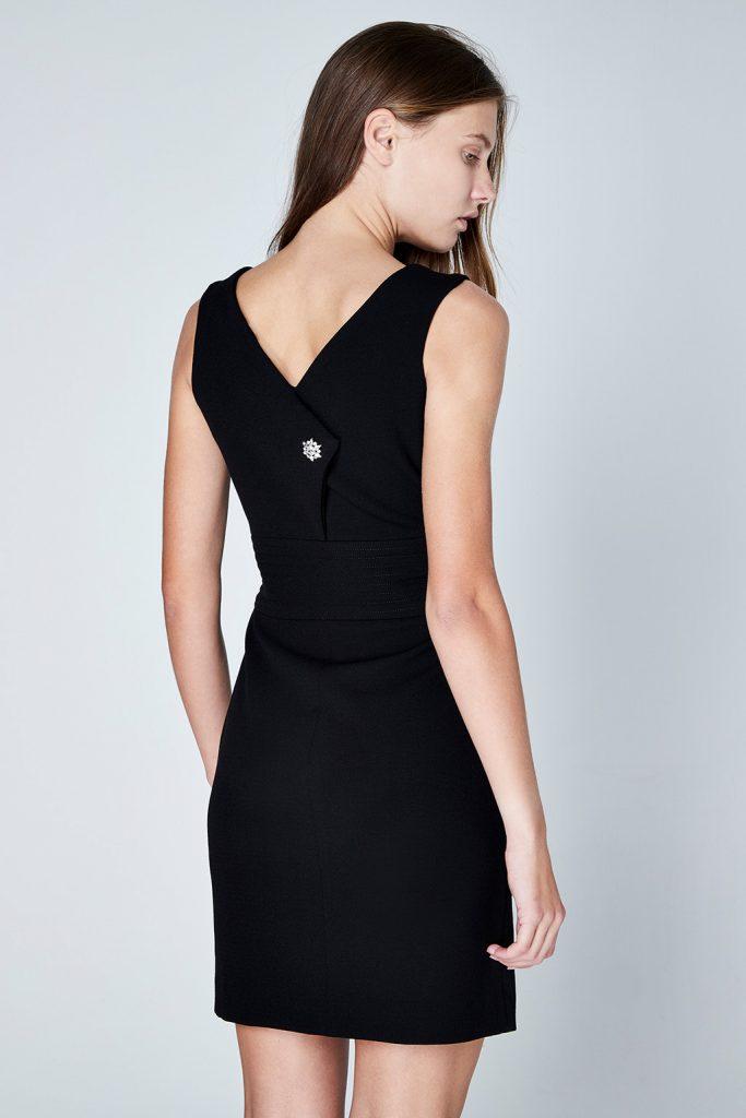 Maje robe ajustée noir