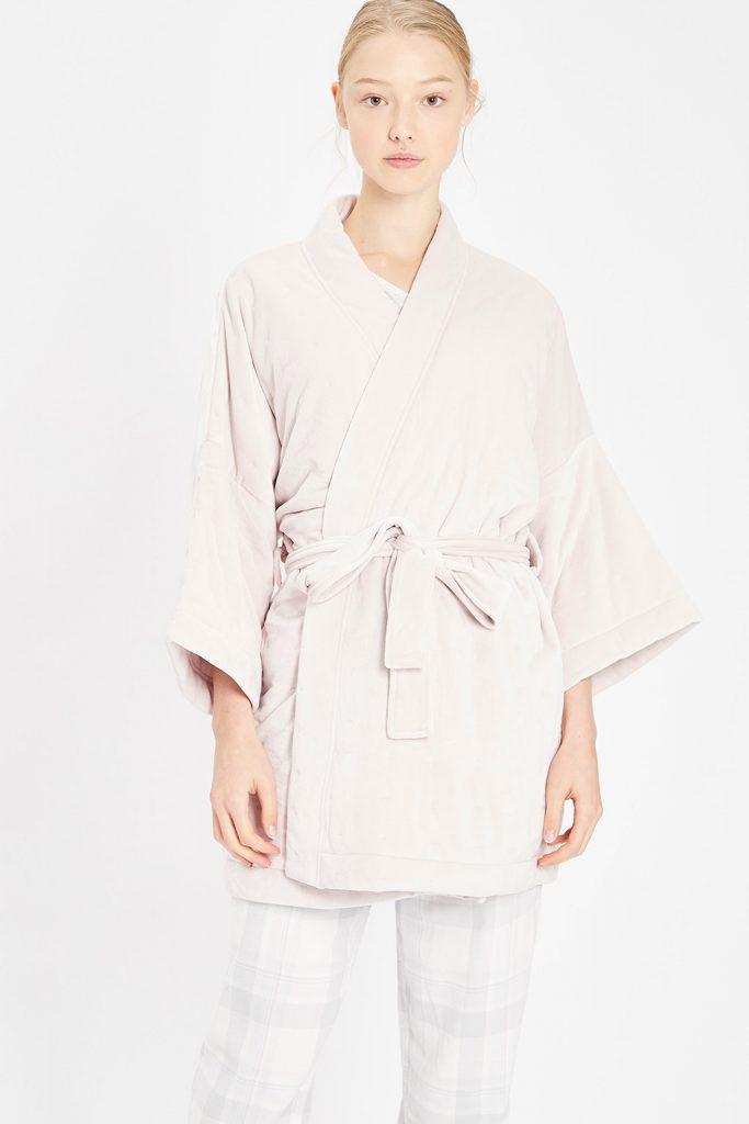 Oysho robe de chambre mauve