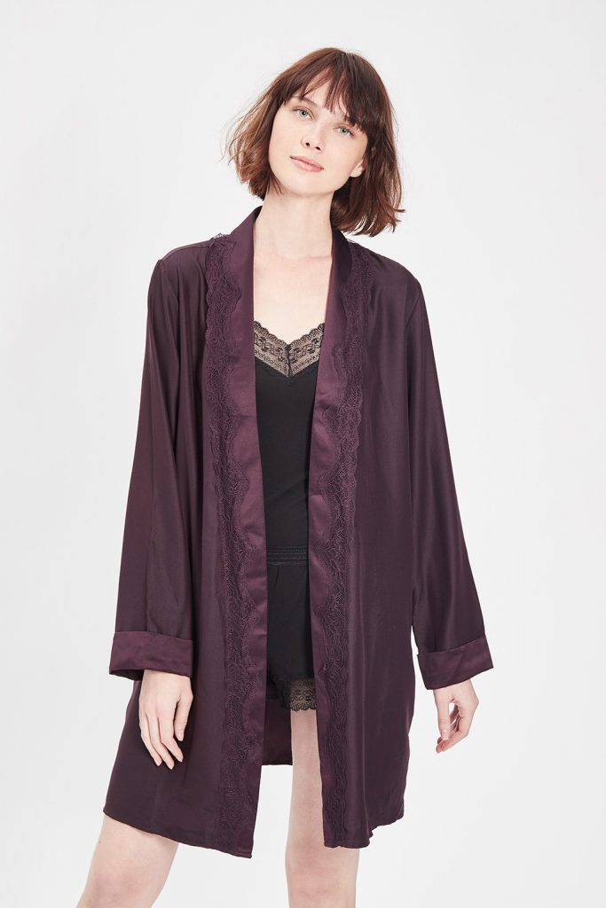 Oysho robe de chambre violet
