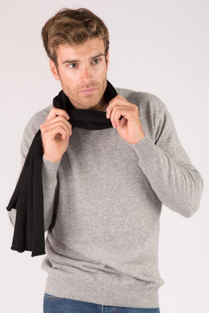 Just Cashmere écharpe cachemire noir
