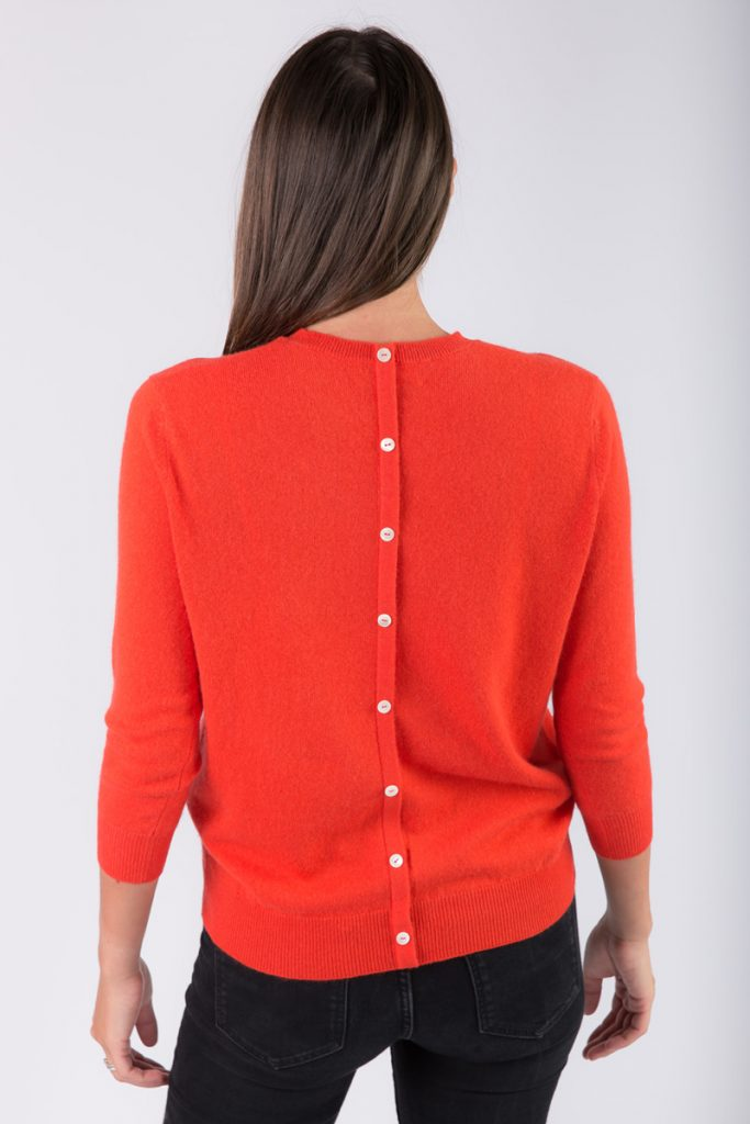 Just Cashmere pull cachemire orange