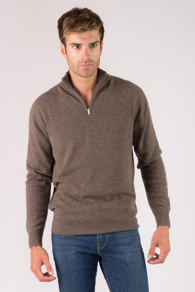 Just Cashmere pull marron