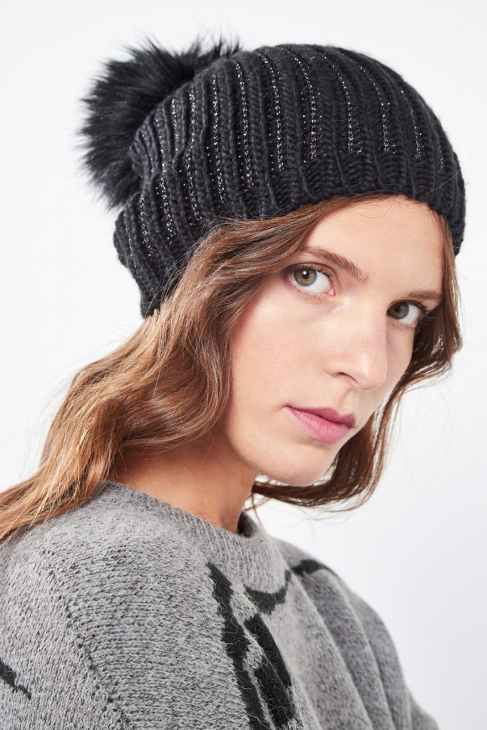 collectionIRL bonnet irisé pompom