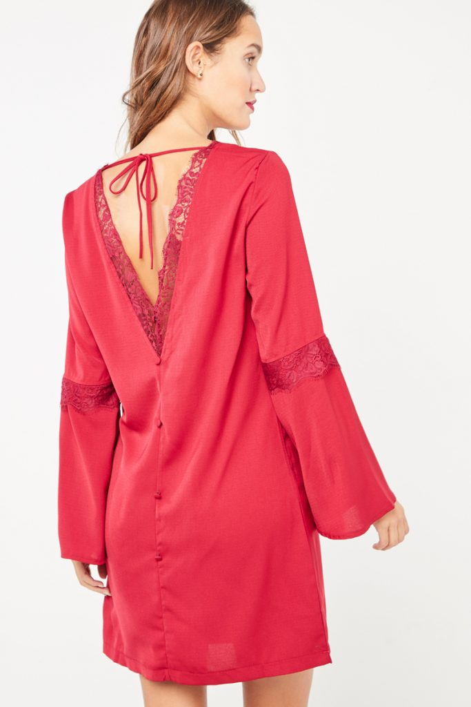 collectionIRL robe dos nu dentelle
