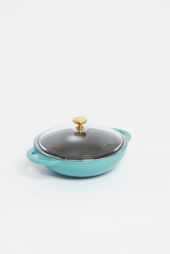 Chasseur mini wok fonte emaillee