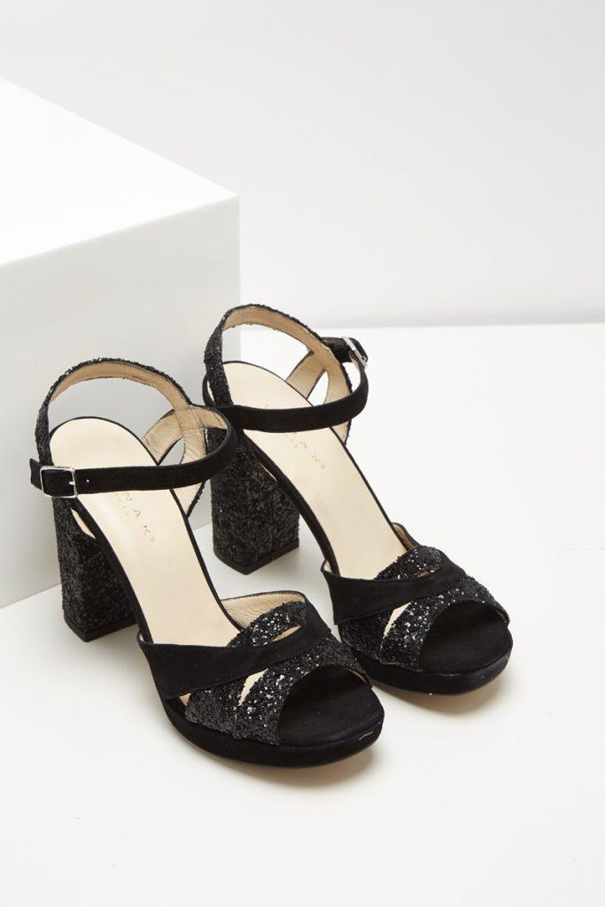 Chaussures casual sandales à talons nubuck