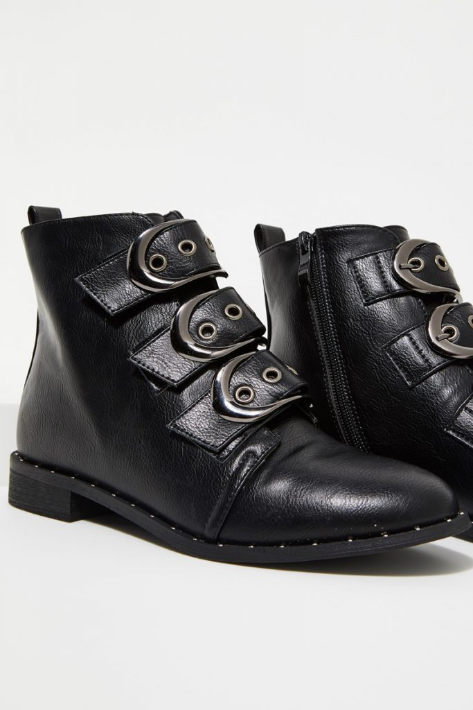 collectionIRL bottines effet cuir