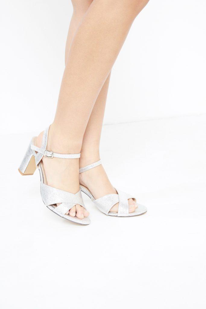 collectionIRL sandales à talons paillettées