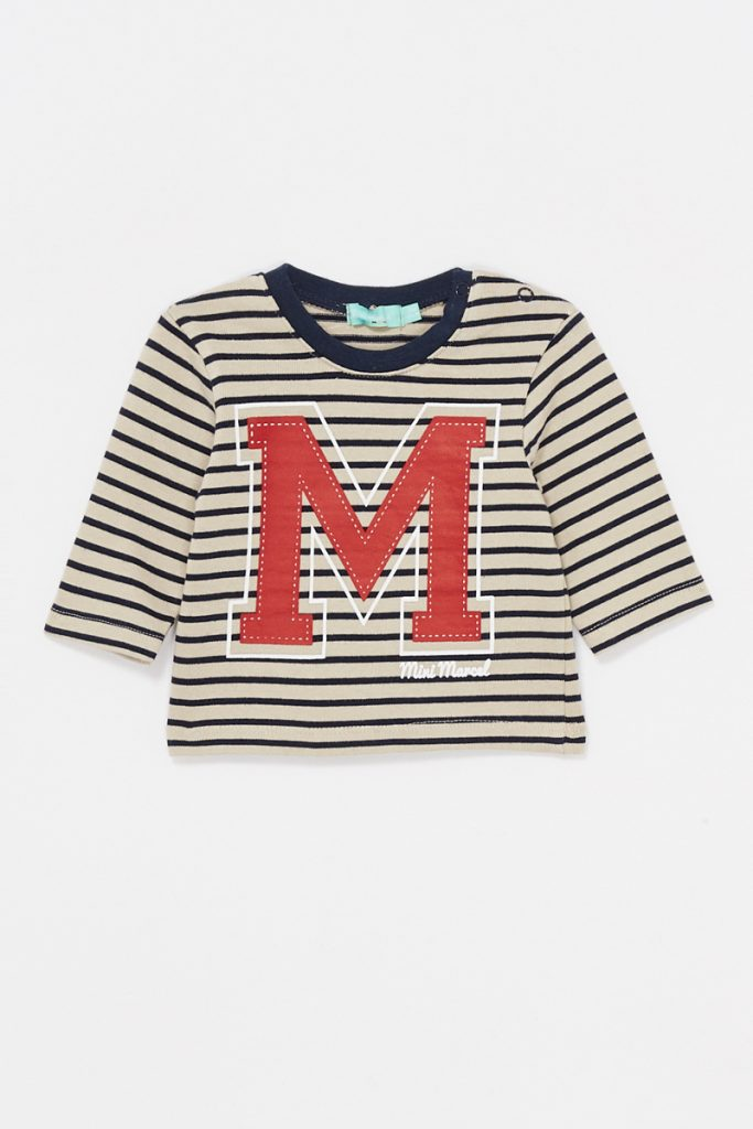 Little Marcel t-shirt rayures