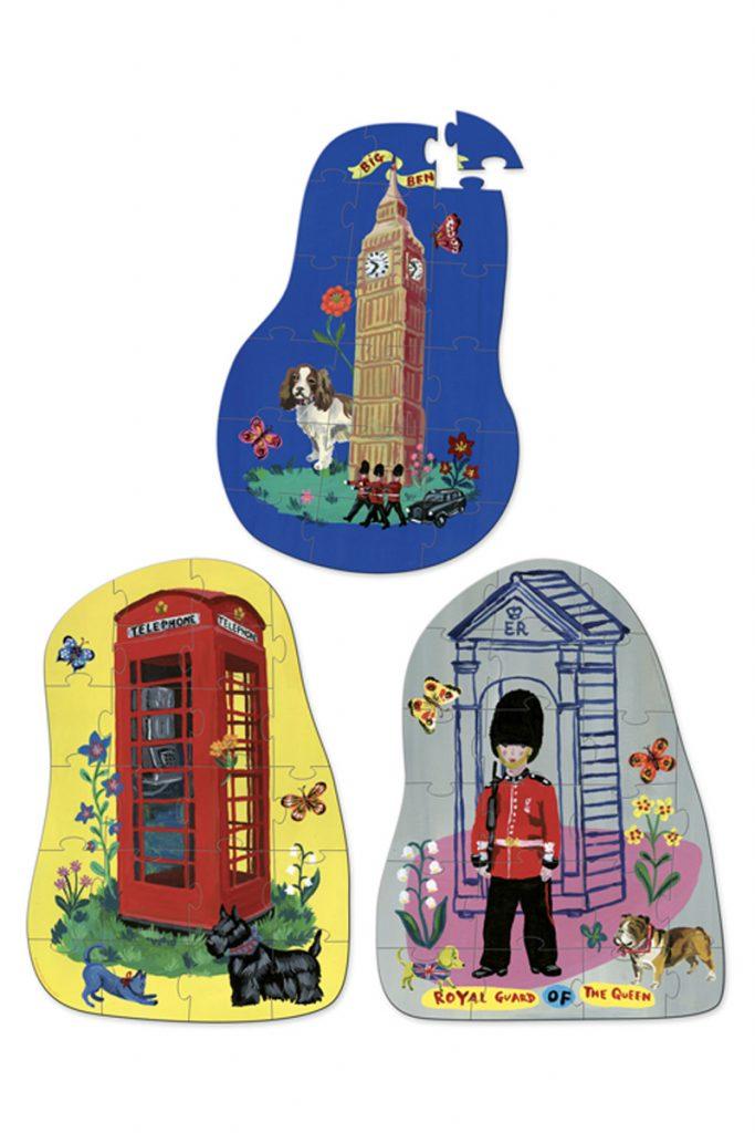 Vilac 3 puzzles bois london