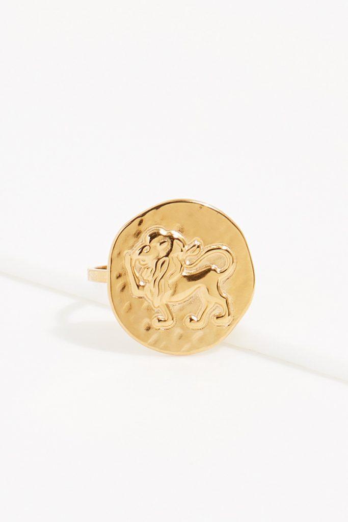 collectionIRL bague dorée Lion