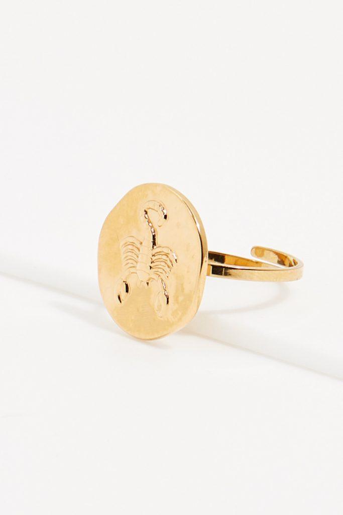 collectionIRL bague dorée Scorpion