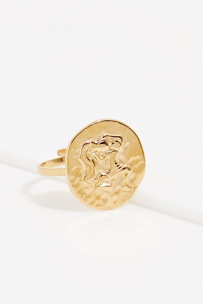 collectionIRL bague dorée Verseau