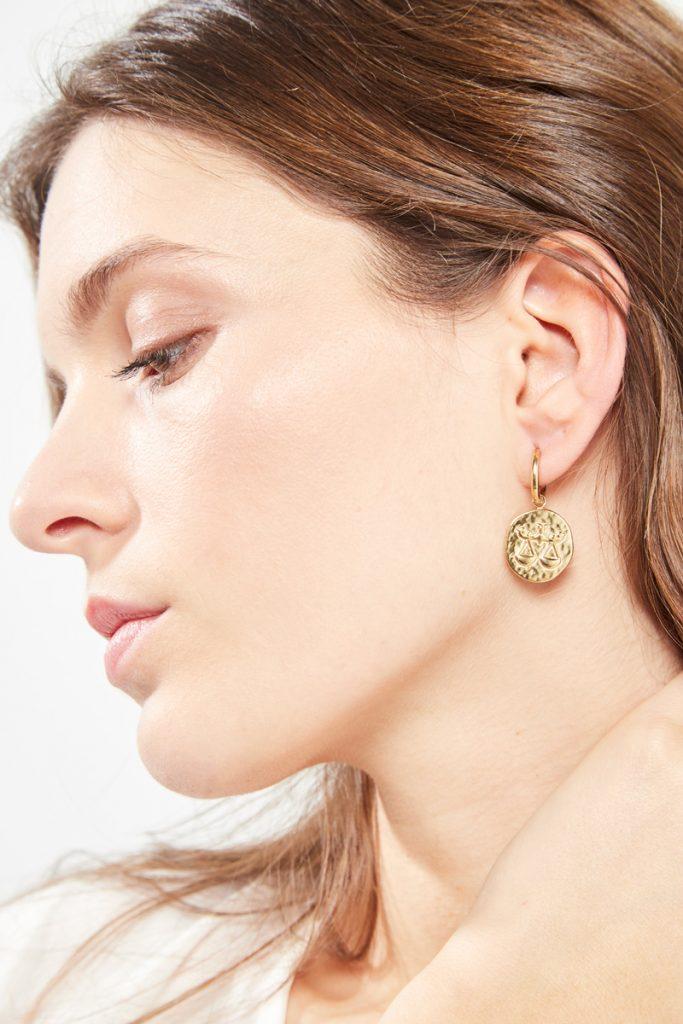 collectionIRL boucles d'oreilles dorées Balance