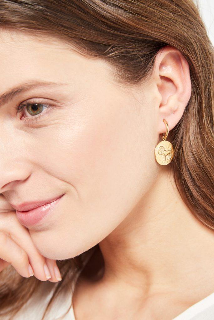 collectionIRL boucles d'oreilles dorées Bélier