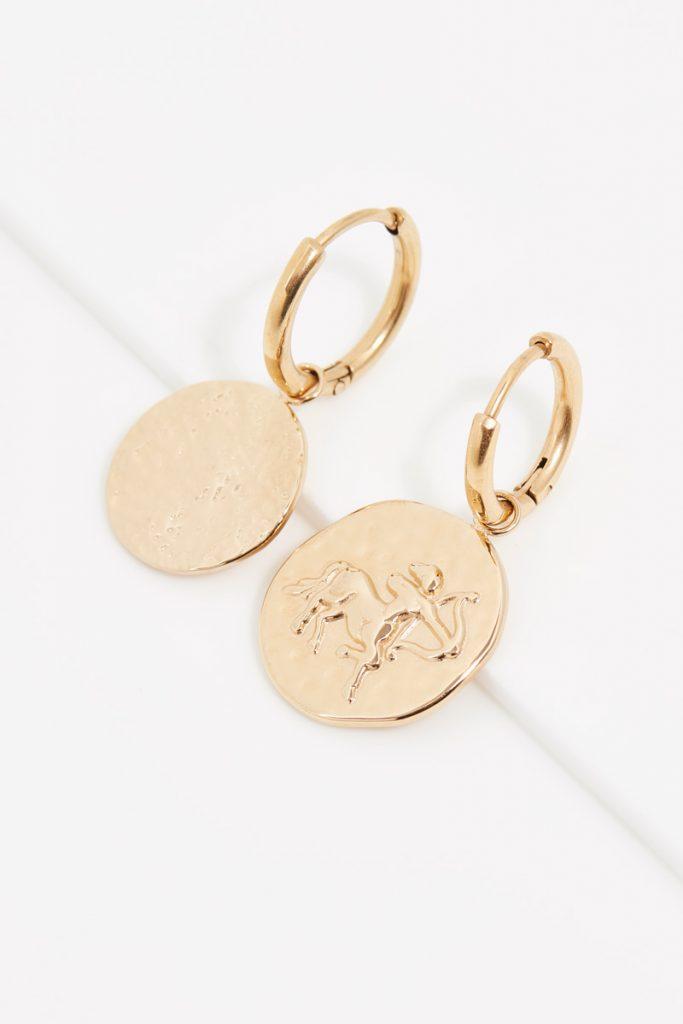 collectionIRL boucles d'oreilles dorées Sagittaire