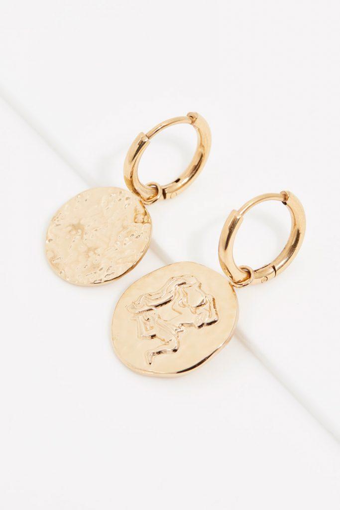 collectionIRL boucles d'oreilles dorées Verseau
