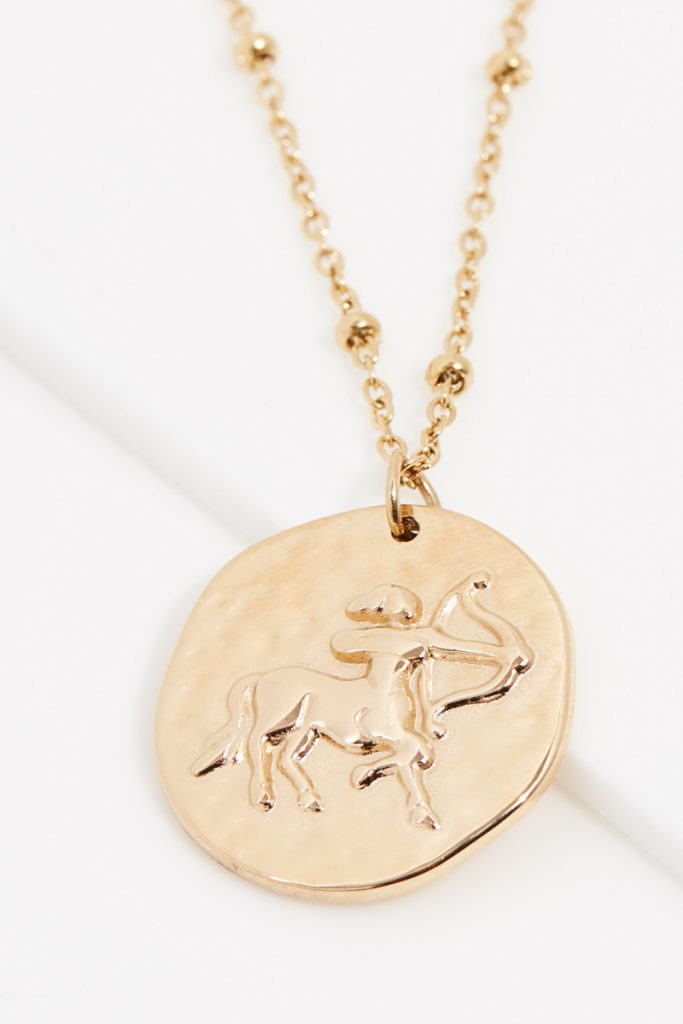 collectionIRL collier doré Sagittaire