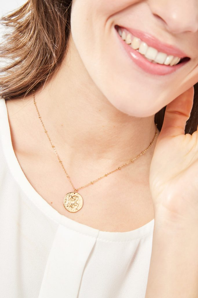 collectionIRL collier doré Verseau