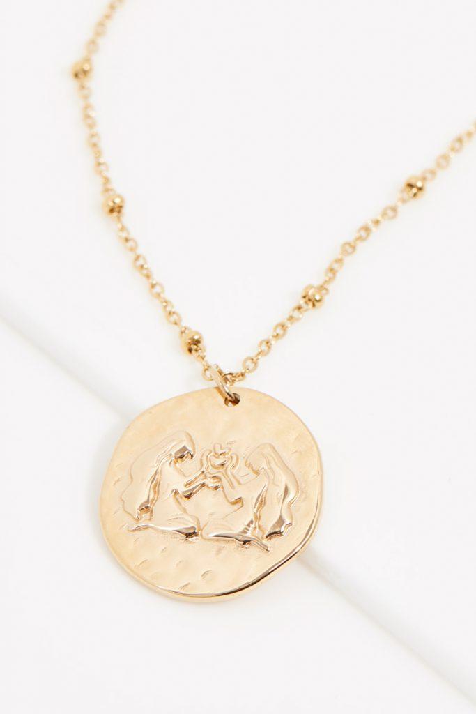 collectionIRL collier dorée Gémeaux
