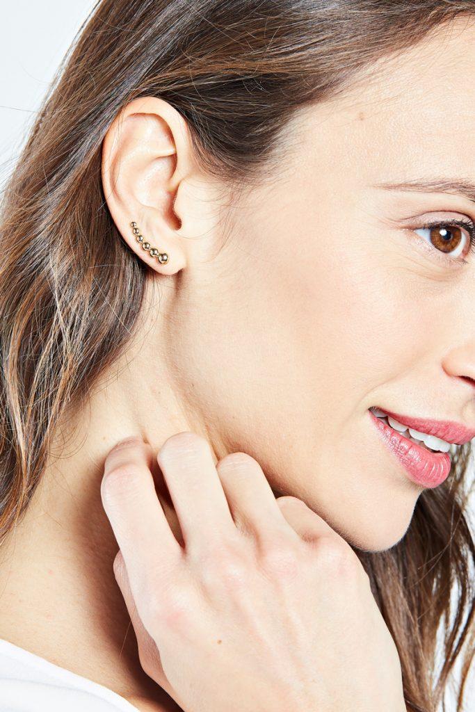 collectionIRL contours d'oreilles plaqué or jaune