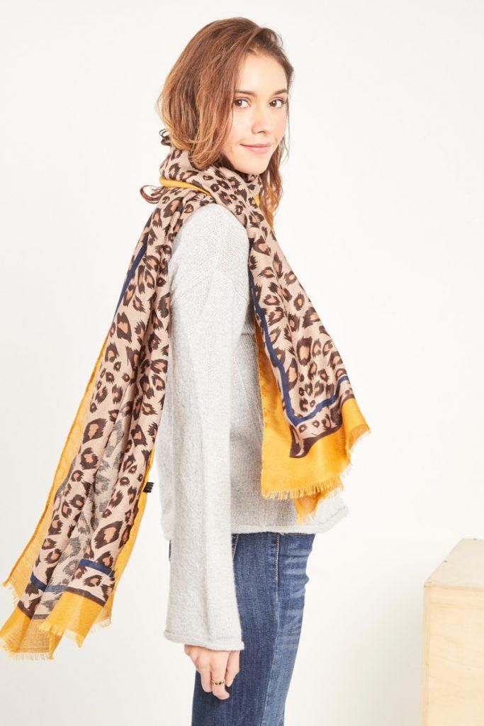 collectionIRL foulard léopard
