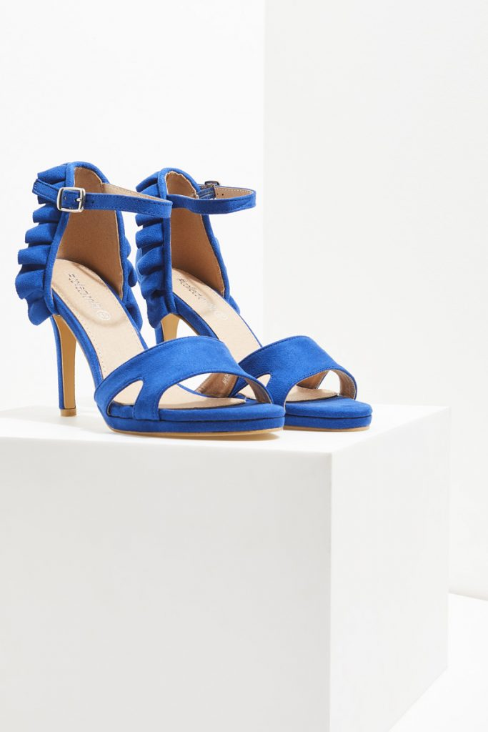 collectionIRL sandales à talons effet nubuck