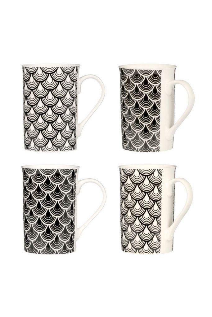 Cuisine design & Co 4 mugs en porcelaine - 3 recettes détox