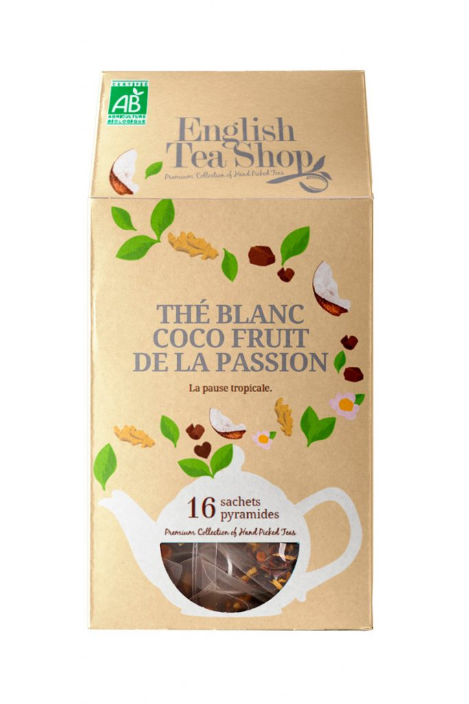 English Tea Shop thé blanc coco fruits de la passion bio
