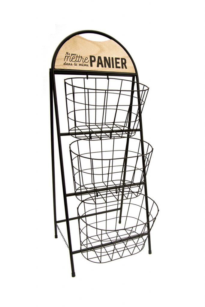 Je cherche une idée meuble de rangement 3 paniers