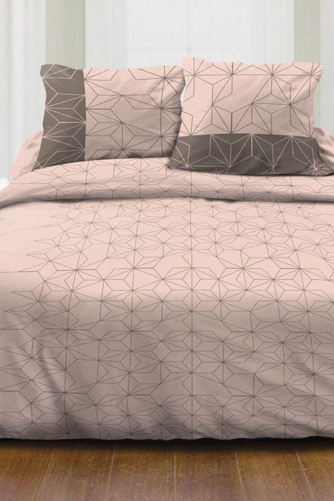 La sélection linge de lit parure couette parcale en coton