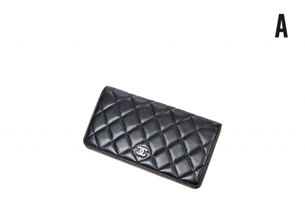 Chanel portefeuille en cuir