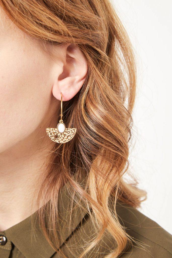 collectionIRL boucles d'oreilles à pierre
