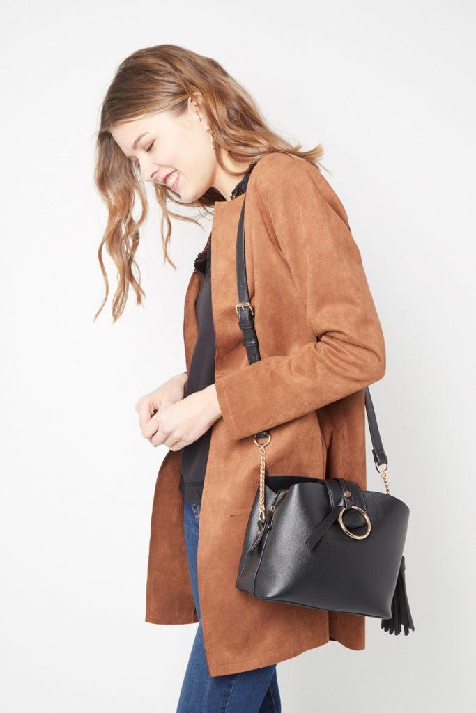 collectionIRL sac bandoulière effet cuir