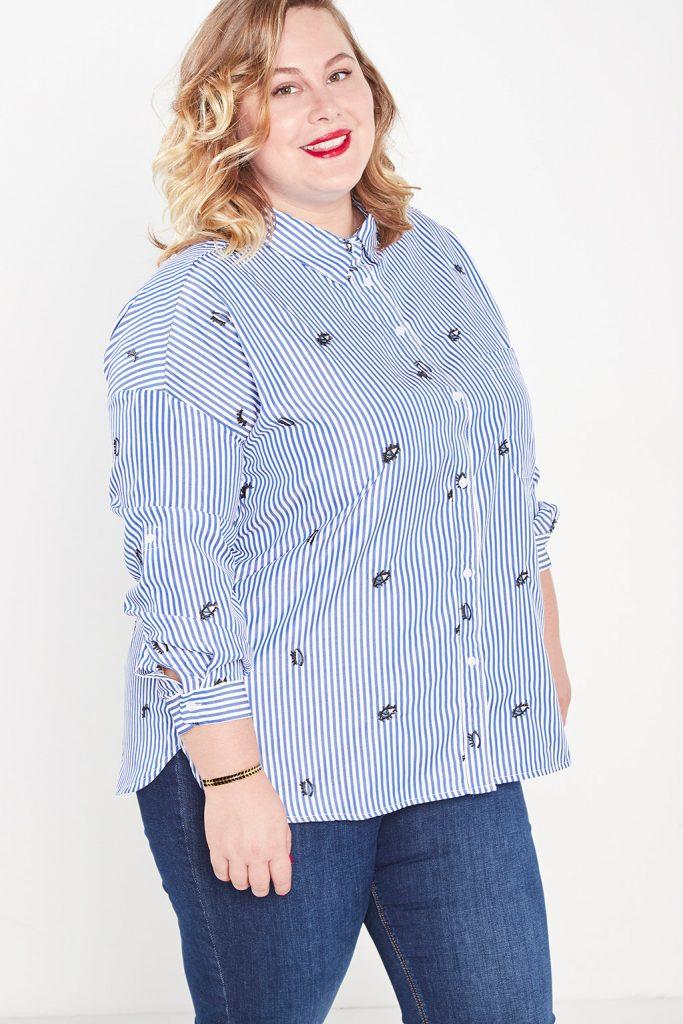 curveIRL chemise à rayures