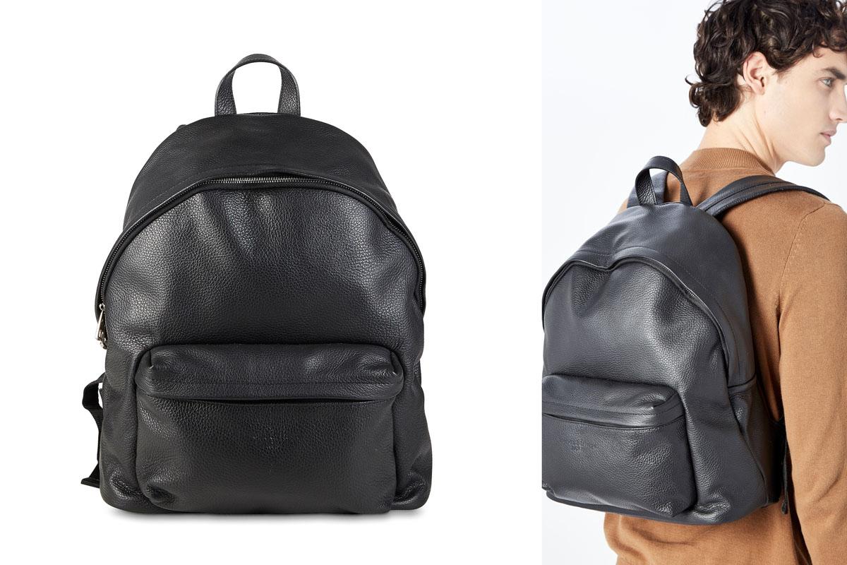 Maison héritage sac à dos en cuir noir