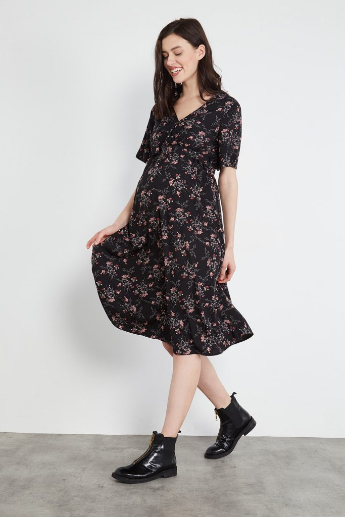 maternityIRL robe portefeuille de maternité