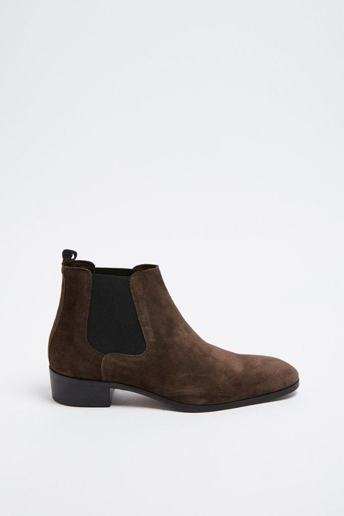 Minelli boots chelsea en croûte de cuir