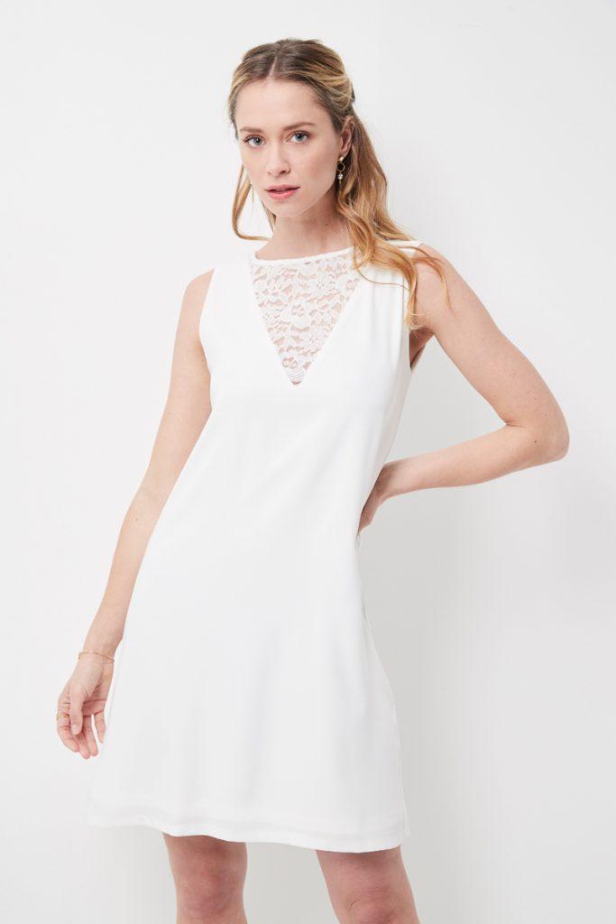 weddingIRL robe droite à dentelle